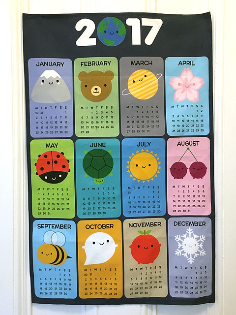 2017 Calendar tea towel