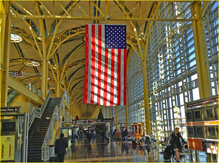 Ron Cogswell captured a flag displayed at Reagan National Airport in Washington, D.C., in December 2015; Creative Commons license