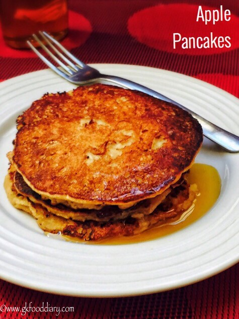 Apple Pancakes Recipe for Babies, Toddlers and Kids1