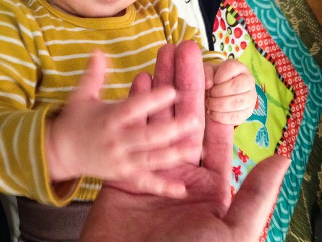 Ensimmäinen isänpäivä. Valokuvaaja: Markus Kauppinen