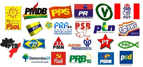 Os 10 partidos com os piores desempenho na eleição em Santarém, Partidos do Brasil