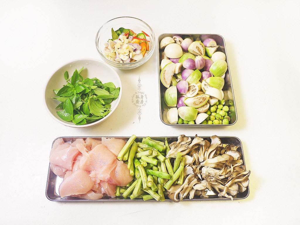 孤身廚房-滿滿新鮮香料版的泰式綠咖哩雞5