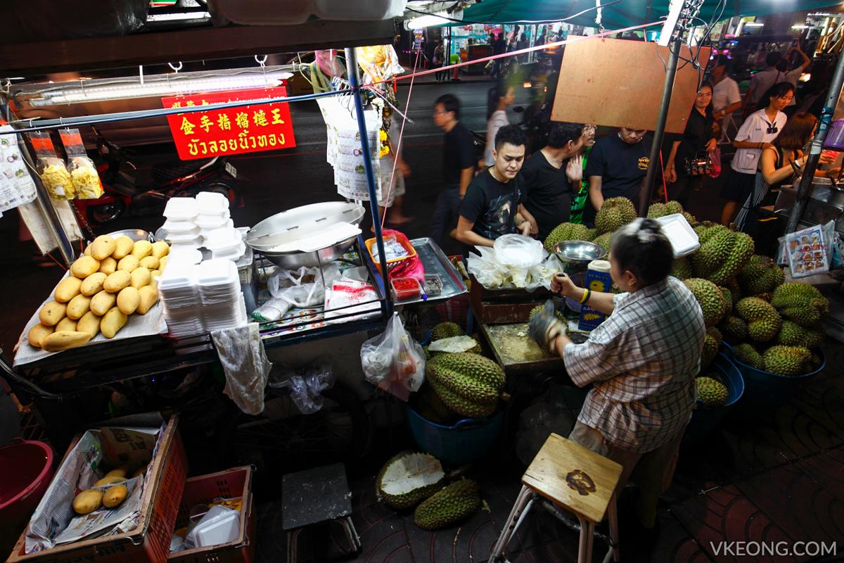 Bangkok Chinatown Yaowarat Durian Stall