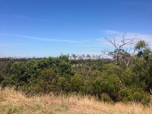 View of Melbourne from Main Yarra Trail, Clifton Hill