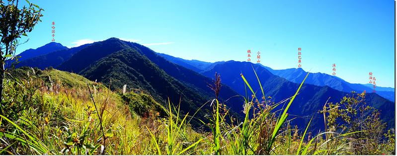 馬馬宇頓山山頂東南眺