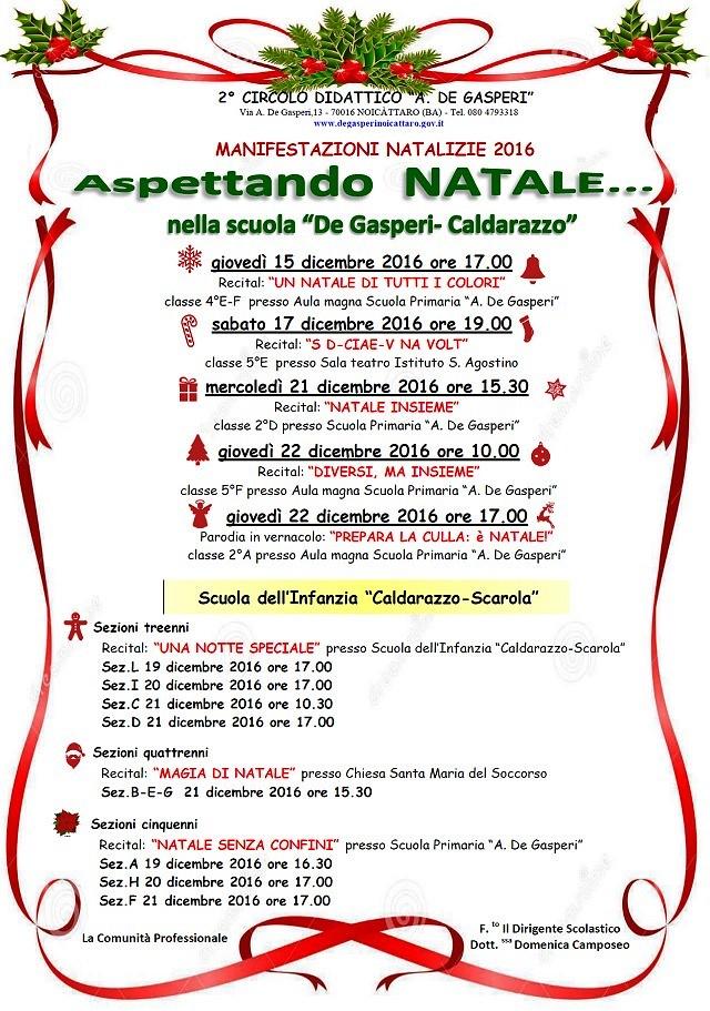 Noicattaro. Eventi Natale De Gasperi intero