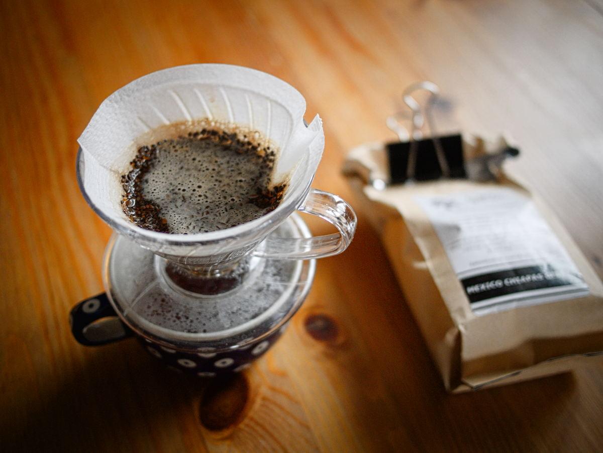 Przelewowe parzenie kawy