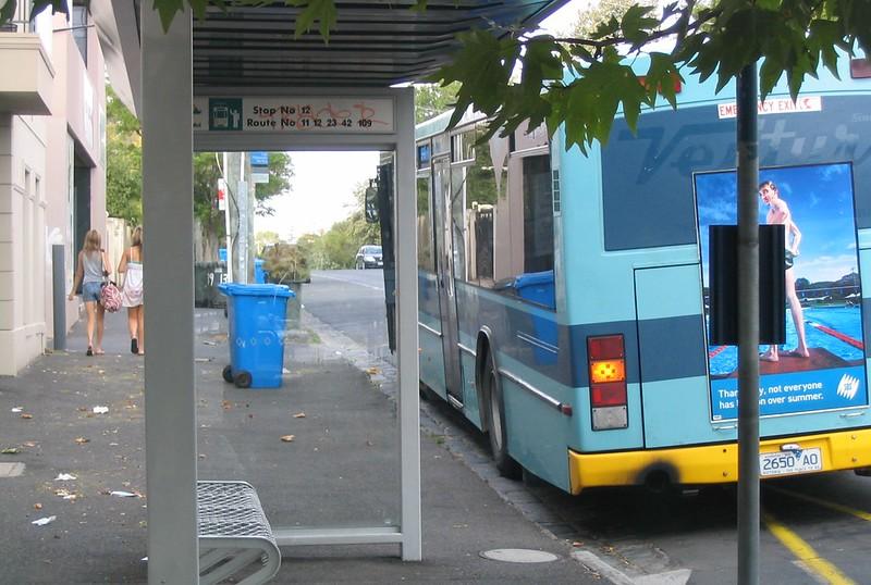 Bus stop, January 2007