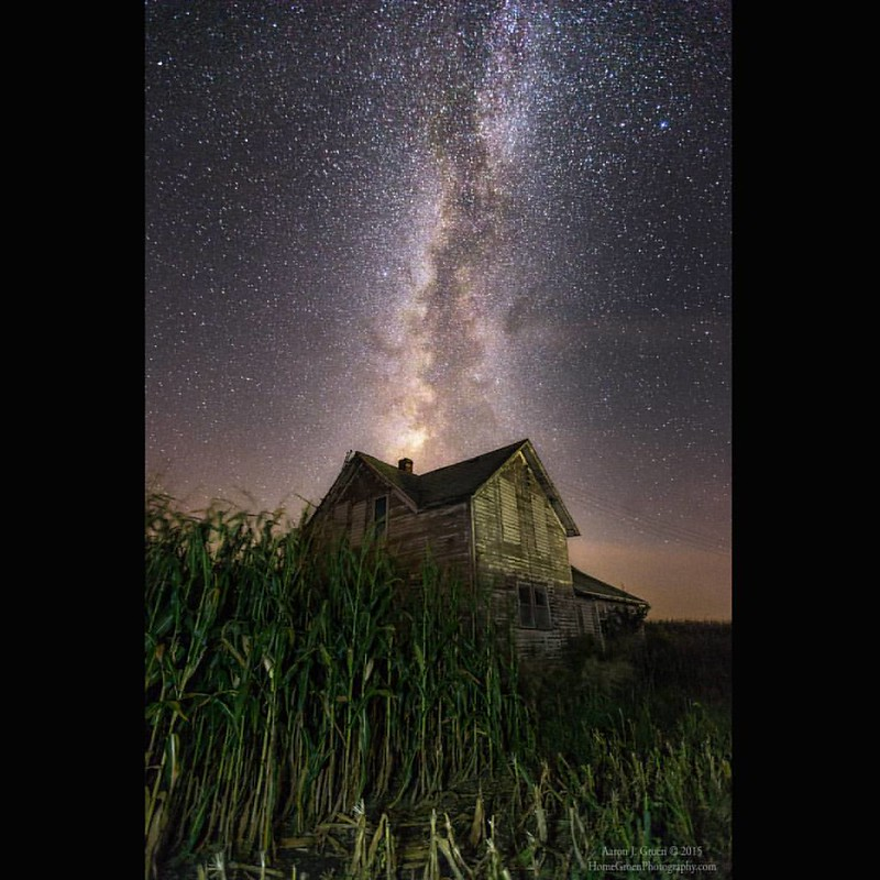 """Behind The Rows"" by Aaron J. Groen @HomeGroenPhotography Taken last night in Gatlin, Nebraska ;-) Just kidding ... but it sure felt like a scene from #ChildrenoftheCorn  If you have ever stood in a small path to a creepy abandoned house completely surrou"