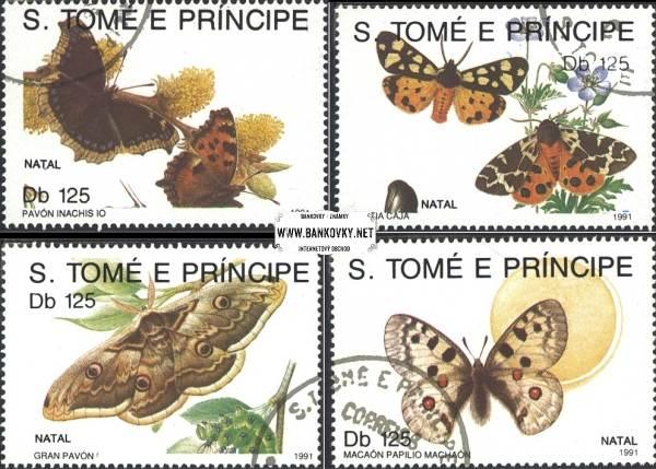 Známky Svätý Tomáš 1991 Motýle, razítkovaná séria