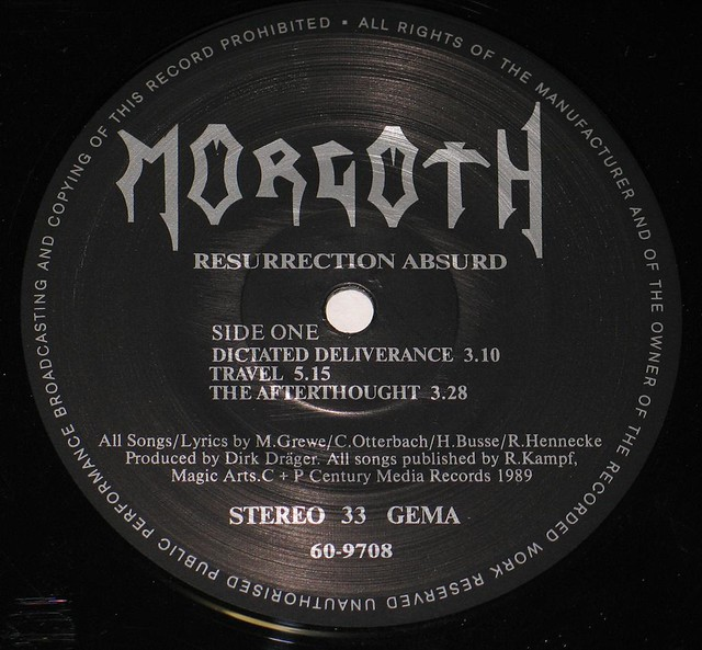 "MORGOTH RESURRECTION ABSURD 12"" EP"