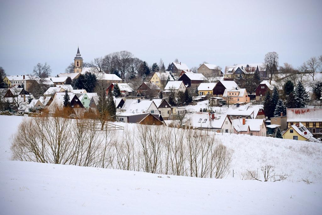 Ein winterlicher Dorfspaziergang