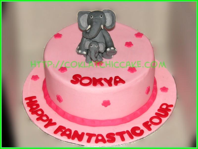 cake gajah
