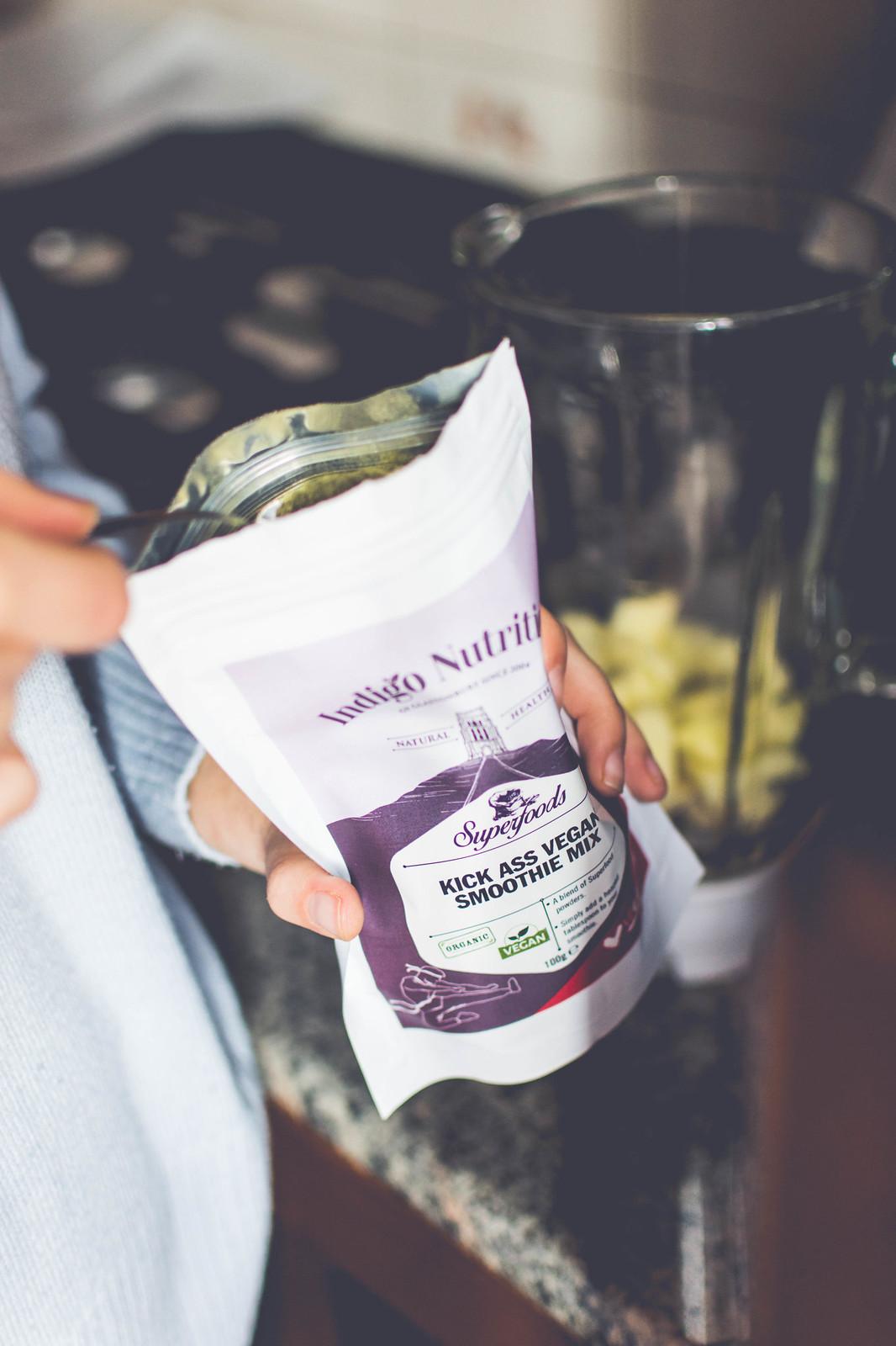 My January detox smoothie with Indigo Herbs Kick Ass Vegan Smoothie Mix