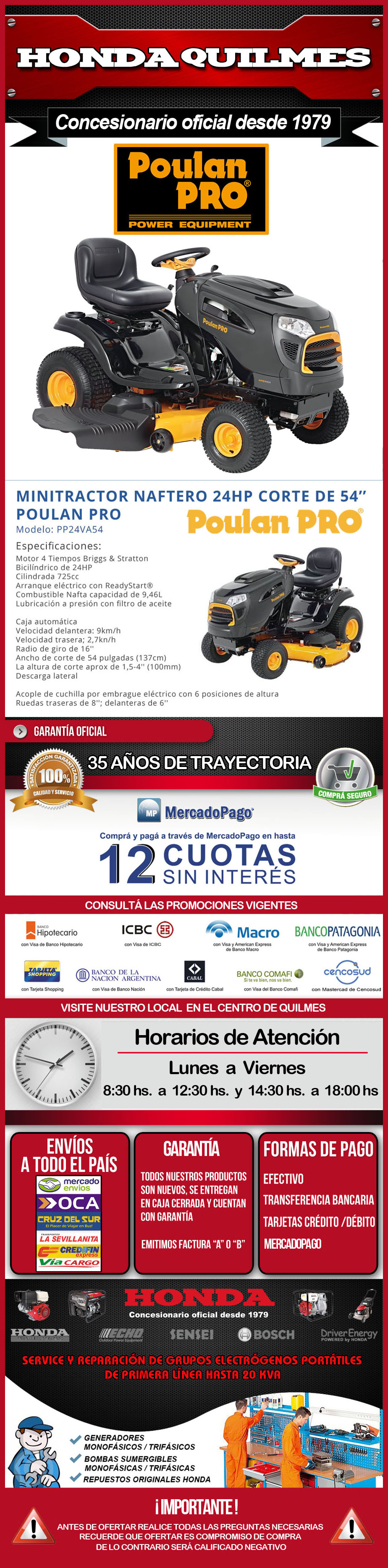 - 0 - ML - TRACTOR POULAN PRO 24 HP