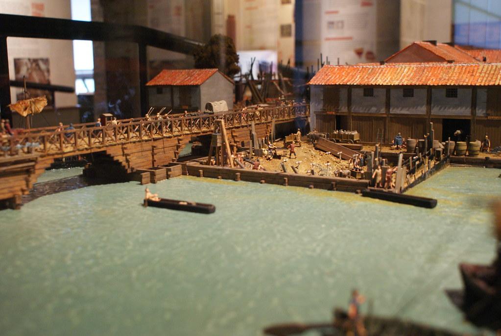 Maquette du pont romain de Londinium.