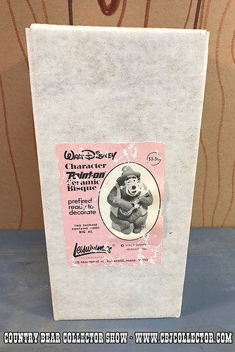 1970s Walt Disney Big Al Leisuramics Ceramic Bisque - Country Bear Jamboree Collector Show #79