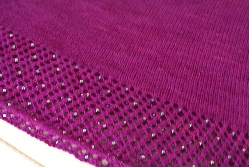 Purple beaded Viajante closeup