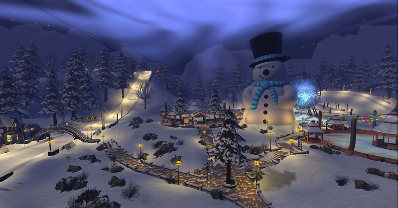Linden Lab's Portal Park and Winter Wonderland 2016