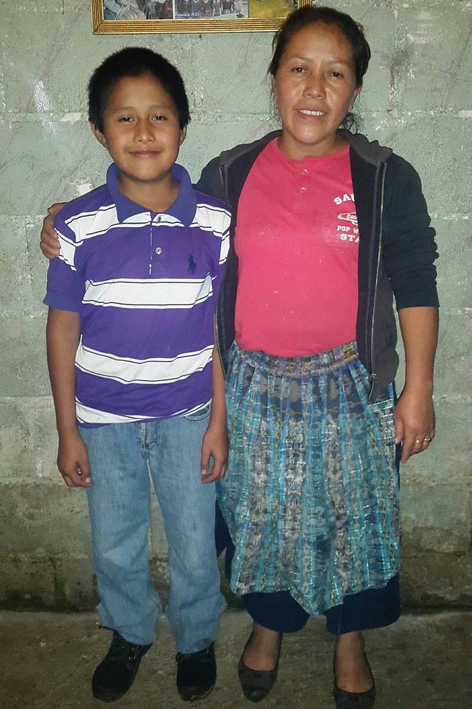 Plácido Baltazar Sanchez Rodriguez y madre