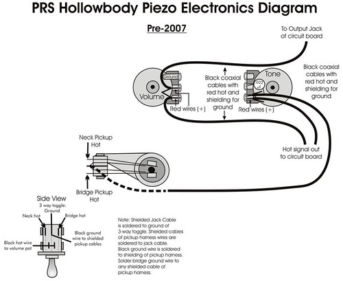 hollowbody ii wiring pre or post 2007 official prs guitars forum rh forums prsguitars com PRS P90 Pickups Wiring-Diagram PRS SE Custom 24 Wiring