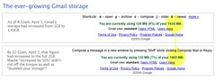 Gmail storage grows... in increments. | by factoryjoe