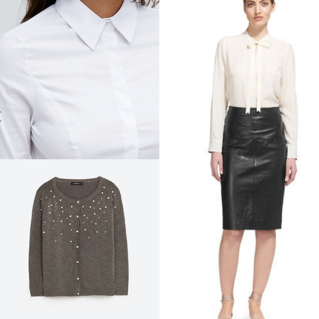 Shopping leather skirts for work