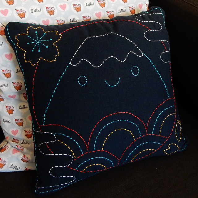 Fuji Sashiko Pillow