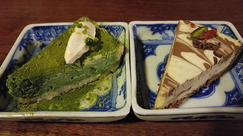 Green tea and Chocolate cake - Organic House Salute Kyoto  Vegetarian Restaurant