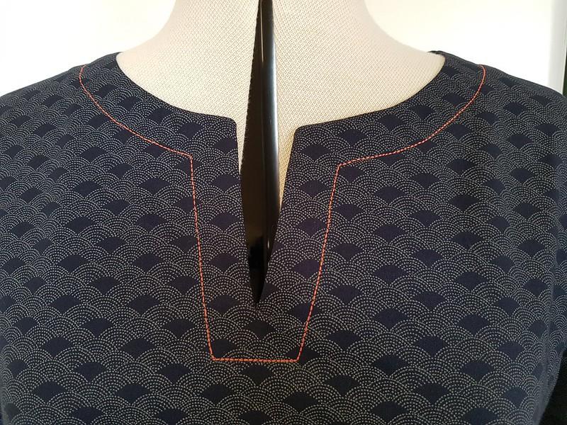 Lekala S4006 neckline detail