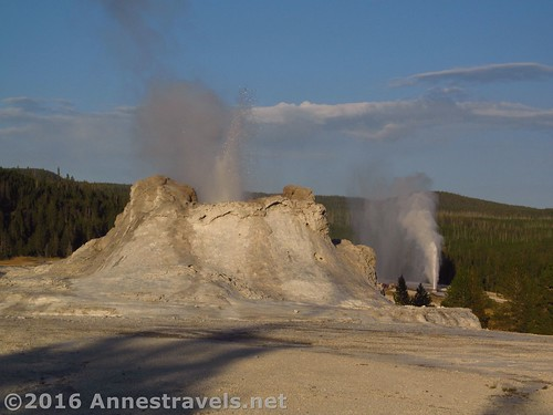 Castle Geyser and Beehive Geyser in the Upper Geyser Basin of Yellowstone National Park, Wyoming