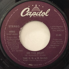 THE B.B. & Q. BAND:ON THE BEAT(LABEL SIDE-A)