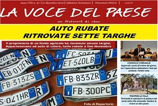 Noicattaro. Prima pagina n. 47-2016 front
