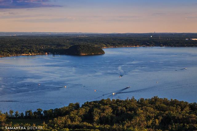 Soaring Over Saratoga Lake
