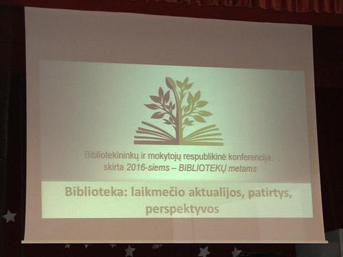 Bibliotekos konferencija, 2016