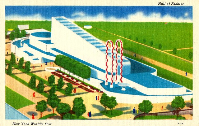 The 1939 New York Worlds Fair Postcard (Building The World Of Tomorrow) - The Hall Of Fashion