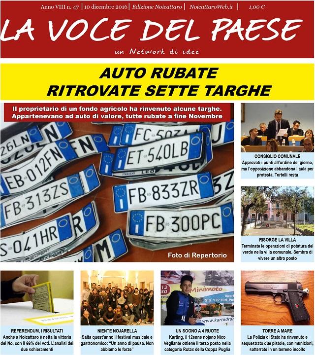 Noicattaro. Prima pagina n. 47-2016 intero