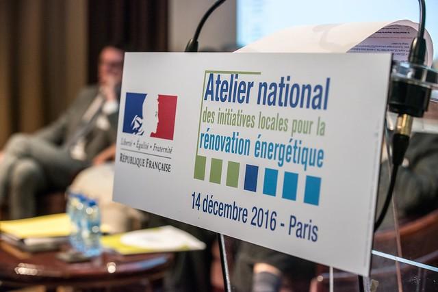 Atelier Rénovation énergétique à la maison de la Chimie 14/12/2016