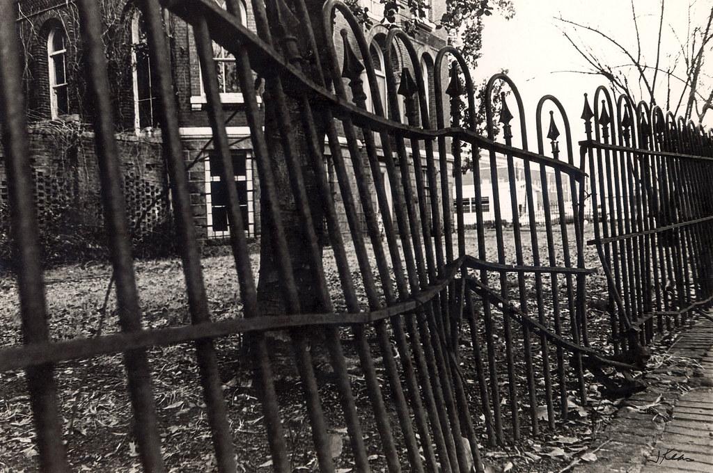 Broken fence, Augusta, GA, 1970s
