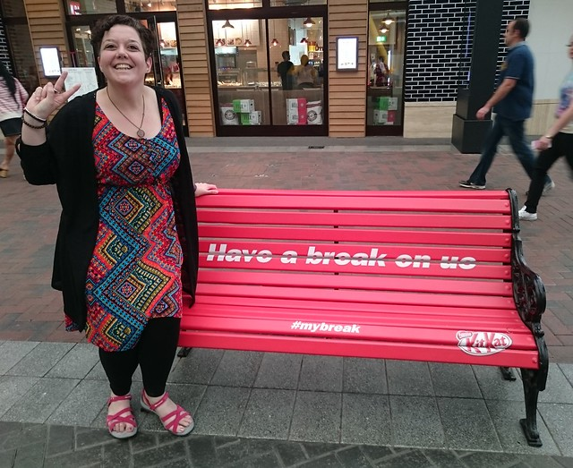 Kit Kat bench in London