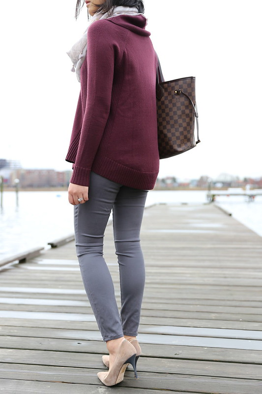 Plum & Grey Outfit