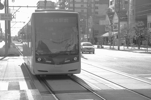 Tramcars of Hankai Tramways Co. on OCT 31, 2015 (8)