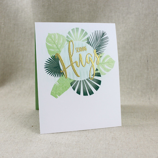 Tropical Sending Hugs Card