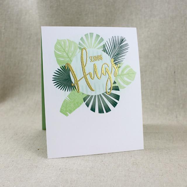 Tropical Sending Hugs Card