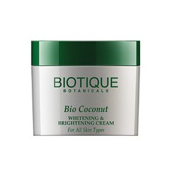 Best ayurvedic fairness cream in India - Biotique Bio- Coconut whitening and brightening cream