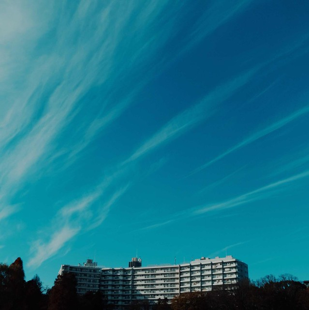 Long cirrus clouds