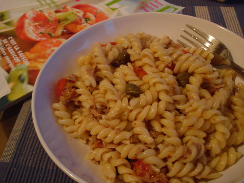 Pasta with Tuna, Tomato and Capers | This was dinner in a ...