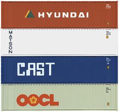 Shipping Containers - Hyundai, Matson, Cast, OOCL | by Joe Kral