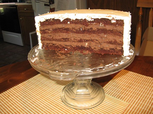 Bobby Flay Chocolate Blackout Wedding Cake Coconut Buttercream