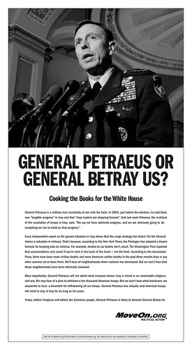 MoveOn ad: General Betray Us? | by scriptingnews